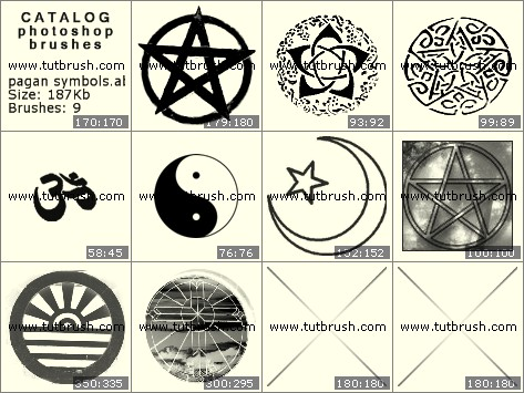 Кисти для фотошопа Языческие cимволы