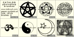 Pagan symbols - photoshop brush preview