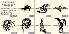 Tattoos of dragons - photoshop brush preview
