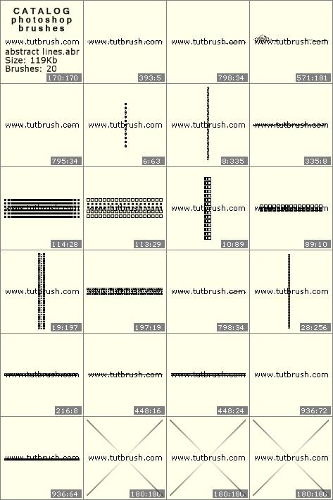 Кисти для фотошопа Абстрактные линии