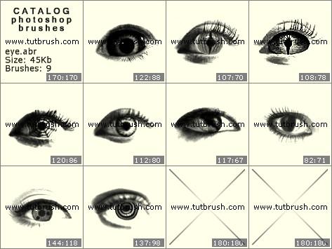 Кисти для фотошопа Мистические глаза