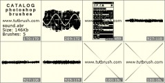 Sound waves - photoshop brush preview