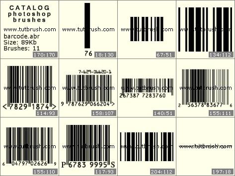 Кисти для фотошопа Штриховой код