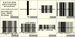 Штриховий код - прев`ю кисті фотошоп