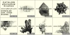 Кристаллы - превью кисти фотошоп
