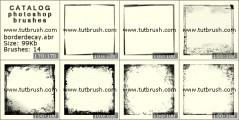 Квадратные рамки - превью кисти фотошоп