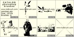 Зомби - превью кисти фотошоп