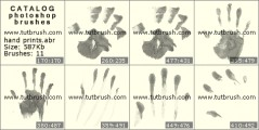 Imprints of hand - photoshop brush preview
