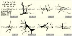Трещины в земле - превью кисти фотошоп