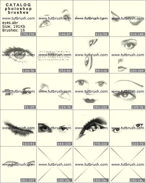 Кисти для фотошопа Волшебные глаза
