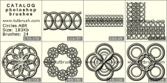 Round patterns - photoshop brush preview