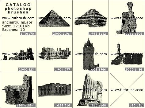 Кисти для фотошопа Старинные здания