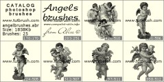 Lovely Angels - photoshop brush preview