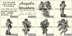 Милые ангелы - превью кисти фотошоп