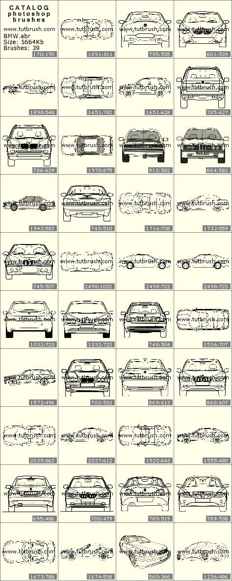 Кисти для фотошопа BMW