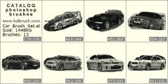 Спортивные машины - превью кисти фотошоп