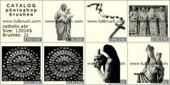 Статуя и икона - превью кисти фотошоп