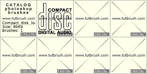 Кисти для фотошопа Компакт диск