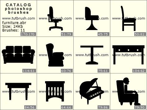 Кисти для фотошопа Офисная мебель