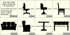 Office furniture - photoshop brush preview
