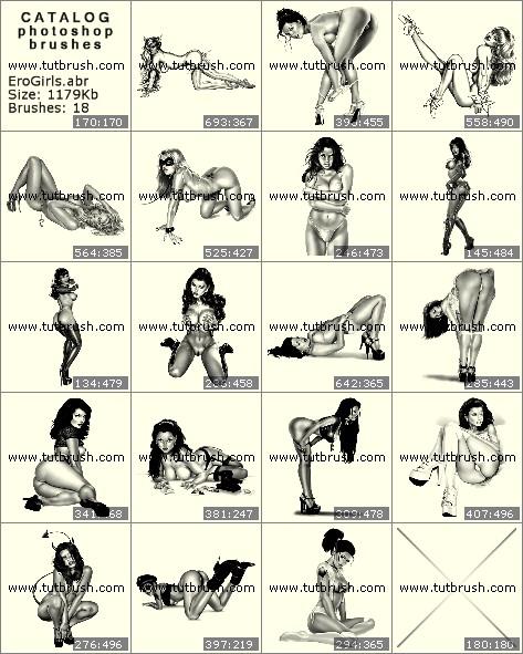 Кисти для фотошопа Эротические девушки