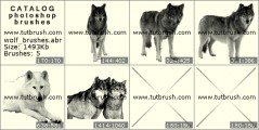 Wolf - photoshop brush preview