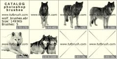 Волк - превью кисти фотошоп