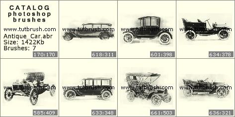 Кисти для фотошопа Старинные автомобили