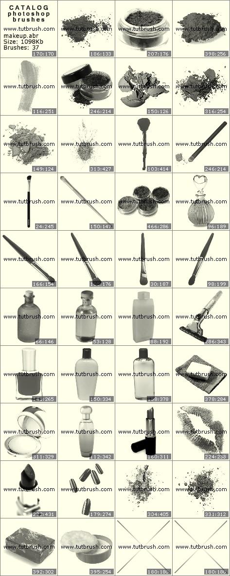 Кисті фотошоп Інструменти для макіяжу