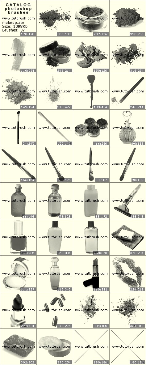 Кисти для фотошопа Средства для макияжа