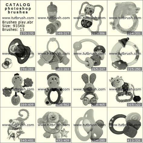Кисті фотошоп Іграшки для малят