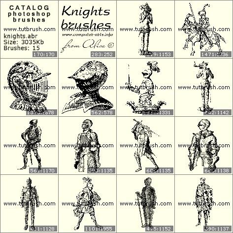 Photoshop brushes Knight armor