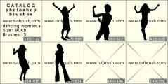 танцующая девушка - превью кисти фотошоп