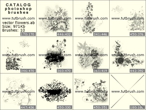 Кисти для фотошопа Векторные букеты цветов