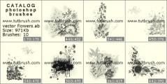 Векторные букеты цветов