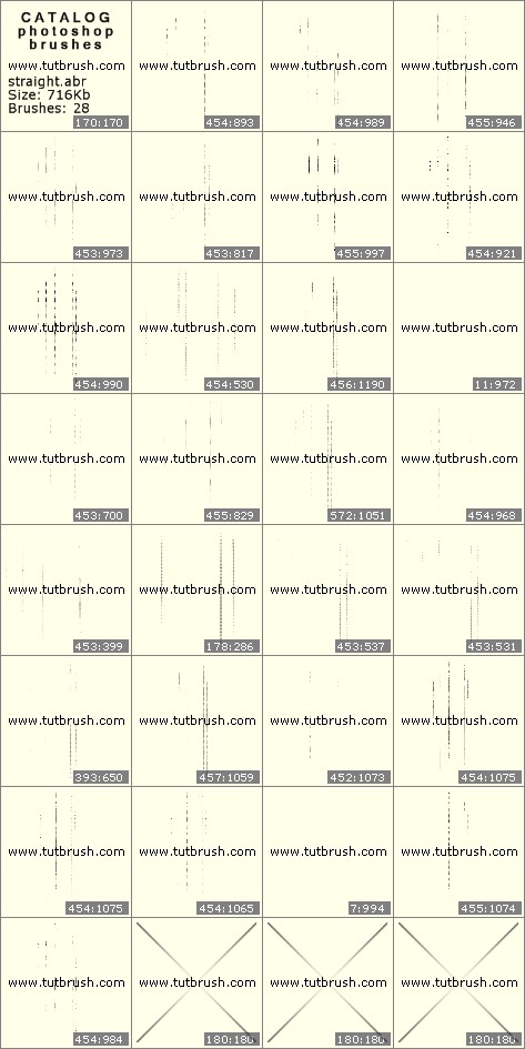 Кисти для фотошопа Вертикальные линии