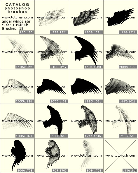 Кисти для фотошопа Крылья ангела