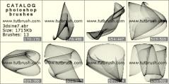 Синус 3D - превью кисти фотошоп