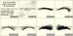 Eyelashes - photoshop brush preview