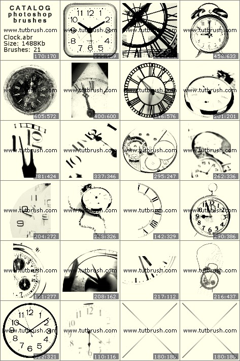 Кисти для фотошопа часы