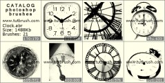clock - photoshop brush preview