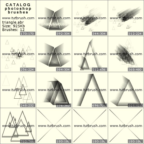 Кисти для фотошопа 3D треугольники