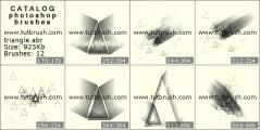 3D треугольники - превью кисти фотошоп