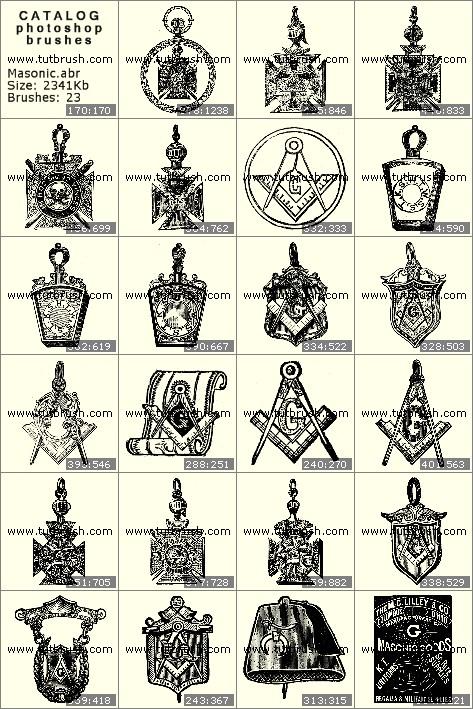 Photoshop brushes Masonic Order