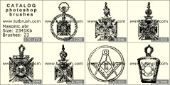 Masonic Order - photoshop brush preview