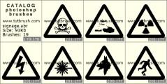 Информационные знаки - превью кисти фотошоп