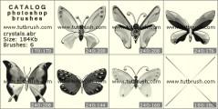 хрустальные бабочки - превью кисти фотошоп