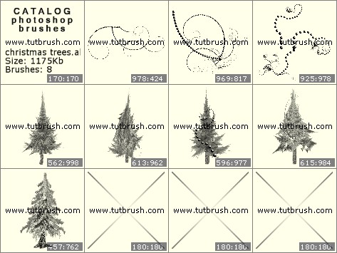 Кисти для фотошопа новогодняя елка