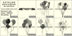 balloons - photoshop brush preview
