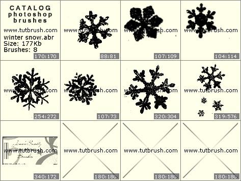 Кисти для фотошопа снежок